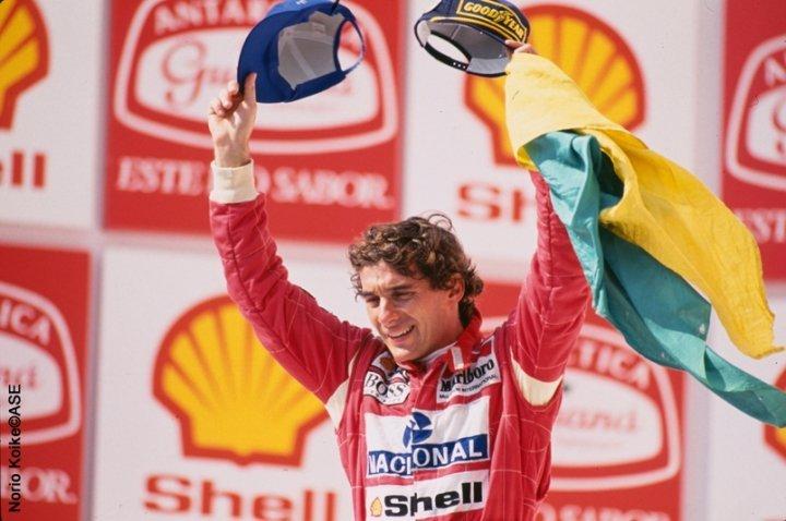 Ayrton Senna visto con gli occhi una bambina
