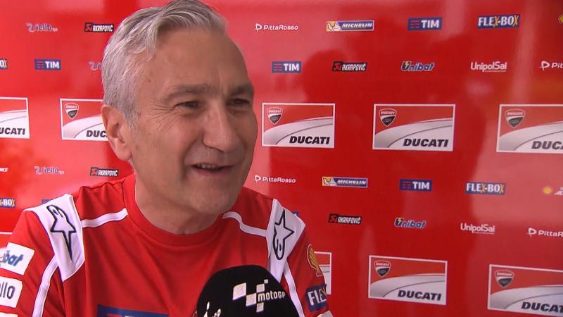 ¿Por qué Pirro compite en el CIV y no en MotoGP o en el World SBK? Davide Tardozzi explica esta situación