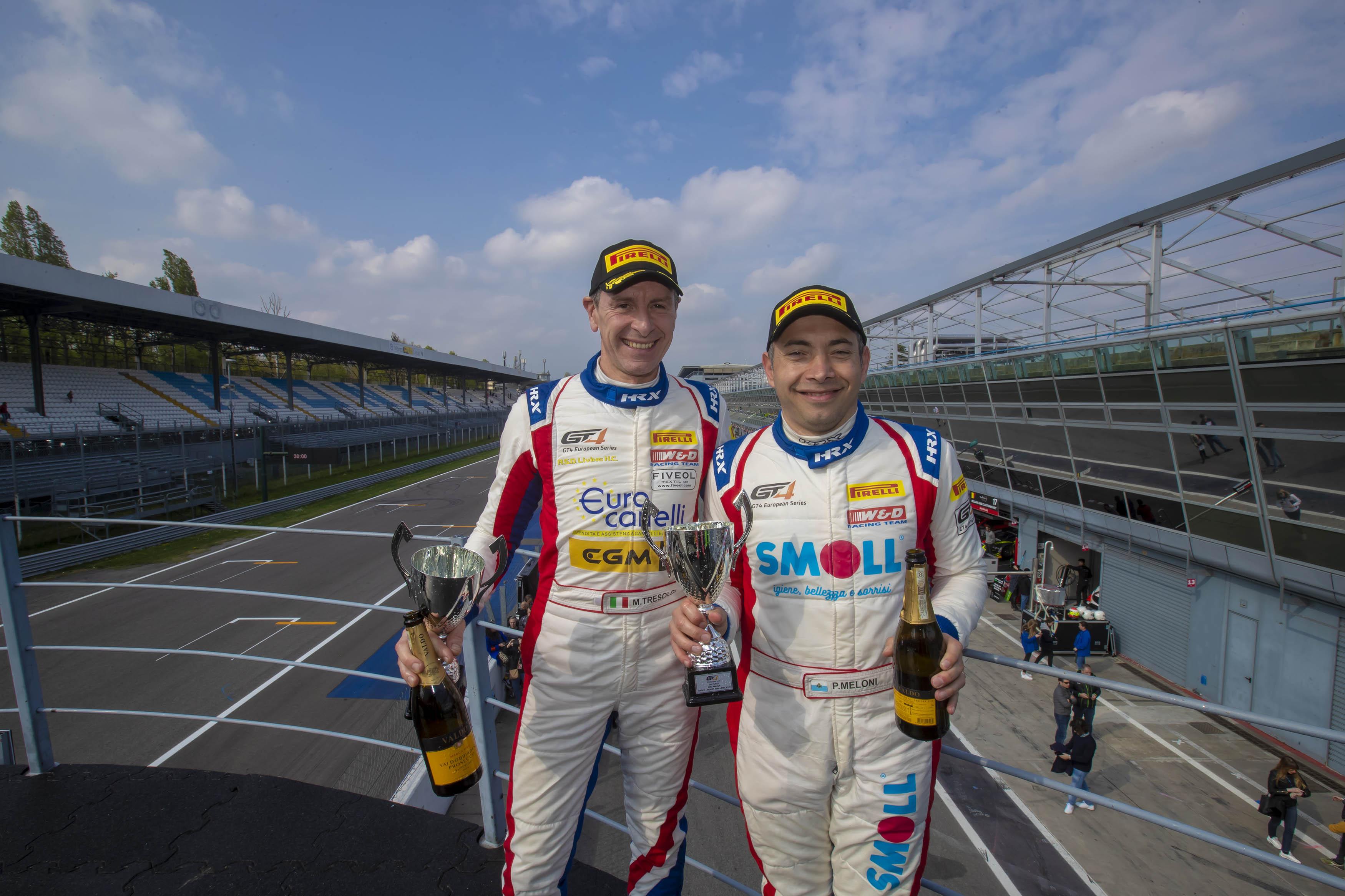 Paolo Meloni e Max Tresoldi sono stati protagonisti nella GT4 European Series