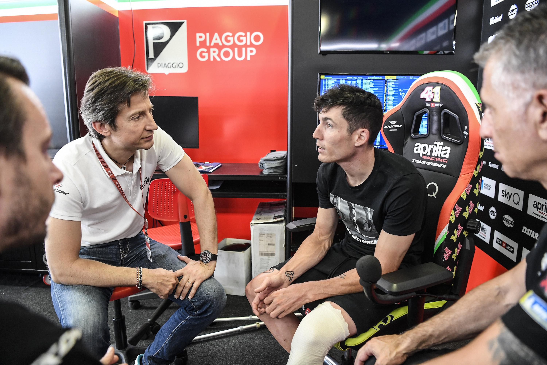 """Aleix Espargarò già in fase di recupero """"Tra un paio di giorni tornerò in bici"""""""