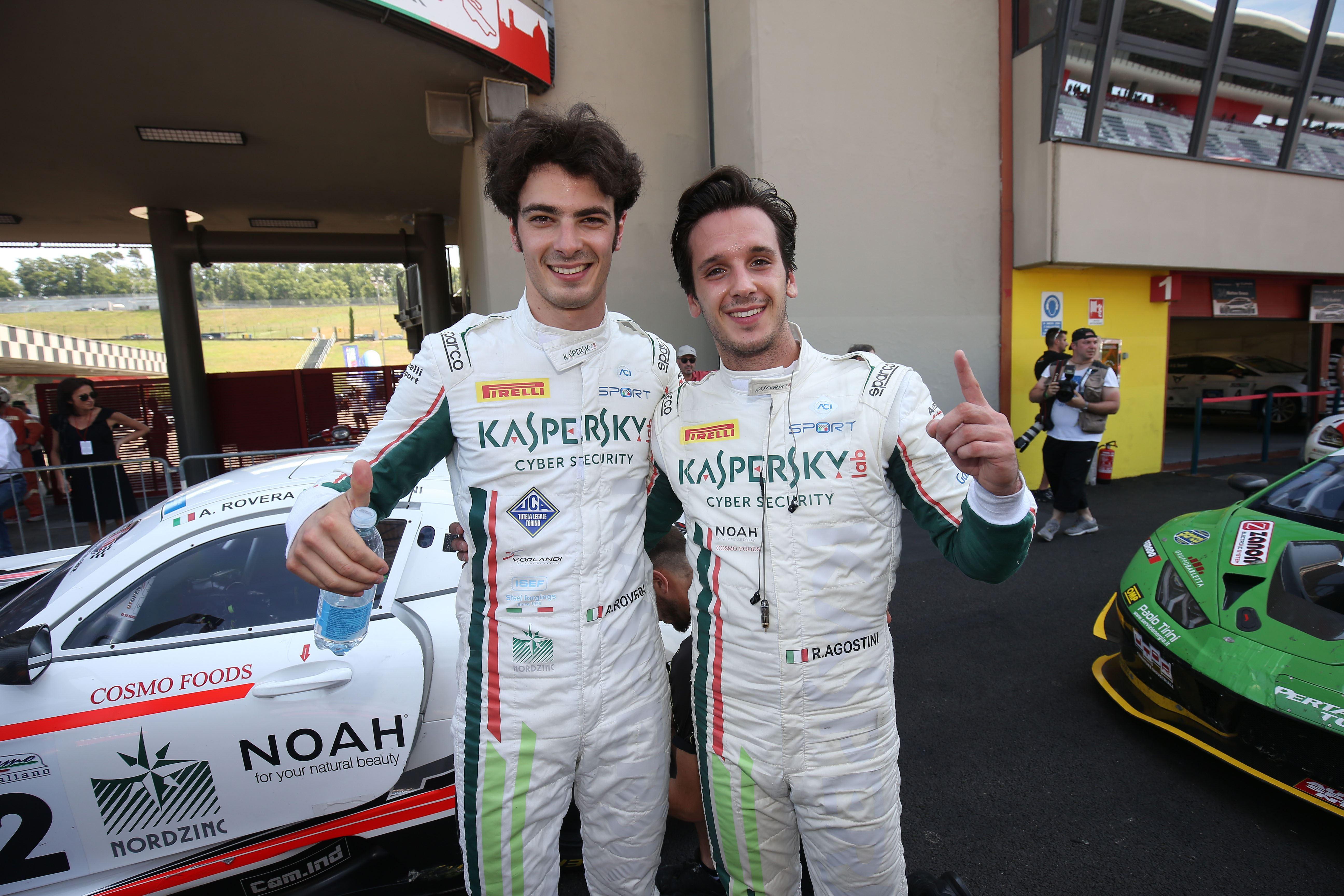 Agostini-Rovera vincono gara-2 del 3° round del Campionato Italiano Gran Turismo Sprint