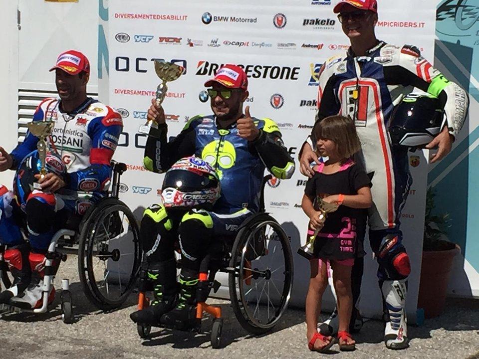 Maurizio Castelli e Miscel Forgione vincono a Magione e sono in testa al Campionato Italiano di Motociclismo Paralimpico