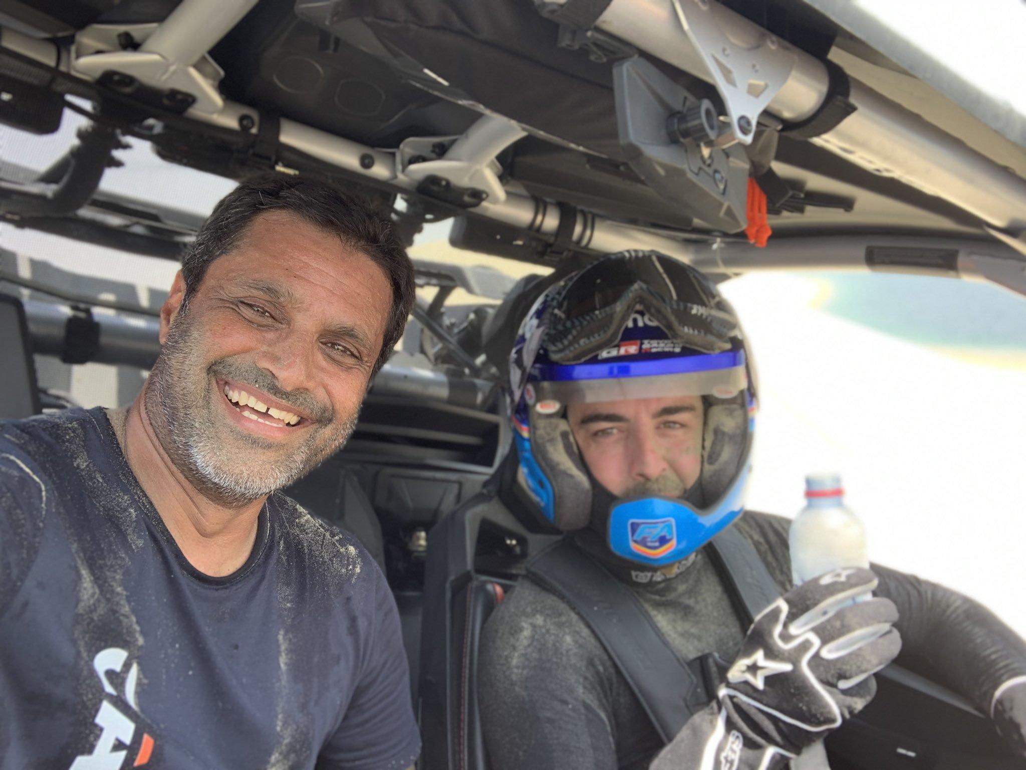 Alonso a scuola di Dakar – Prima lezione con Coma, seconda con Al Attiyah