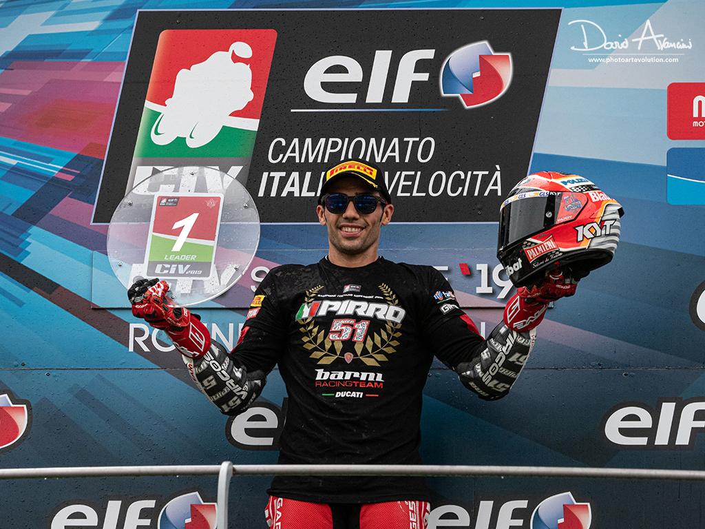 CIV – Michele Pirro è Campione Italiano Superbike. Settimo titolo italiano per il fuoriclasse della Ducati.