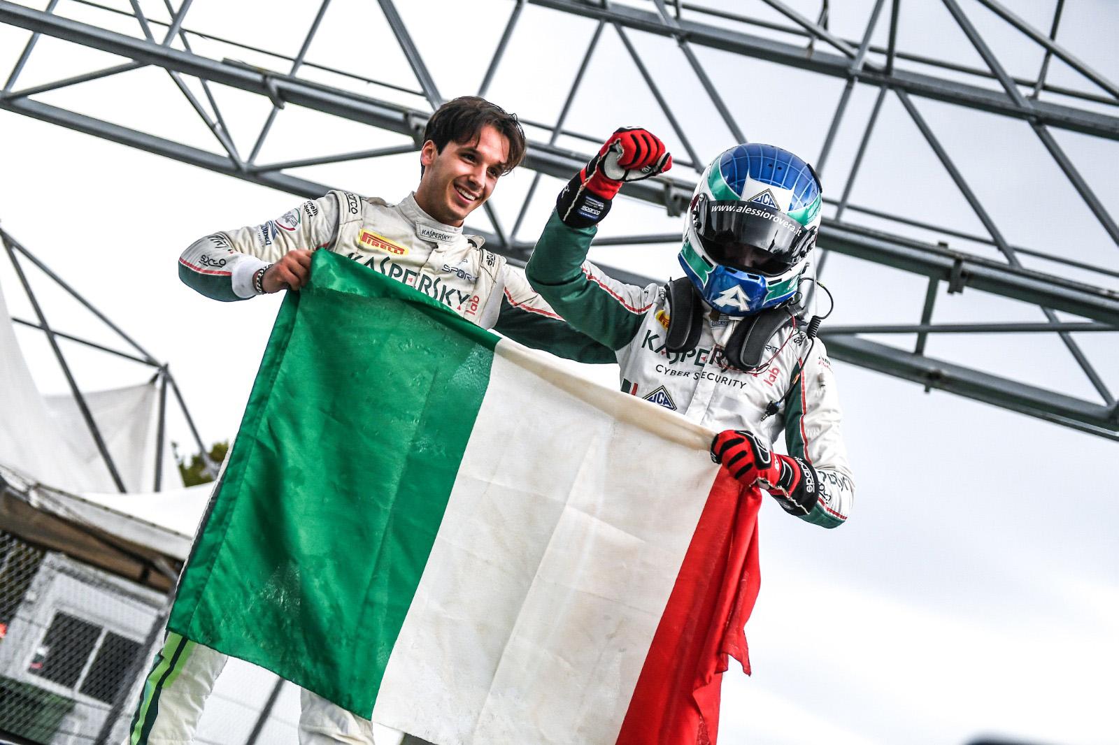 Riccardo Agostini Campione Italiano Gran Turismo Sprint  con Alessio Rovera
