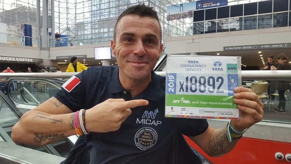 Emiliano Malagoli alla Maratona di New York