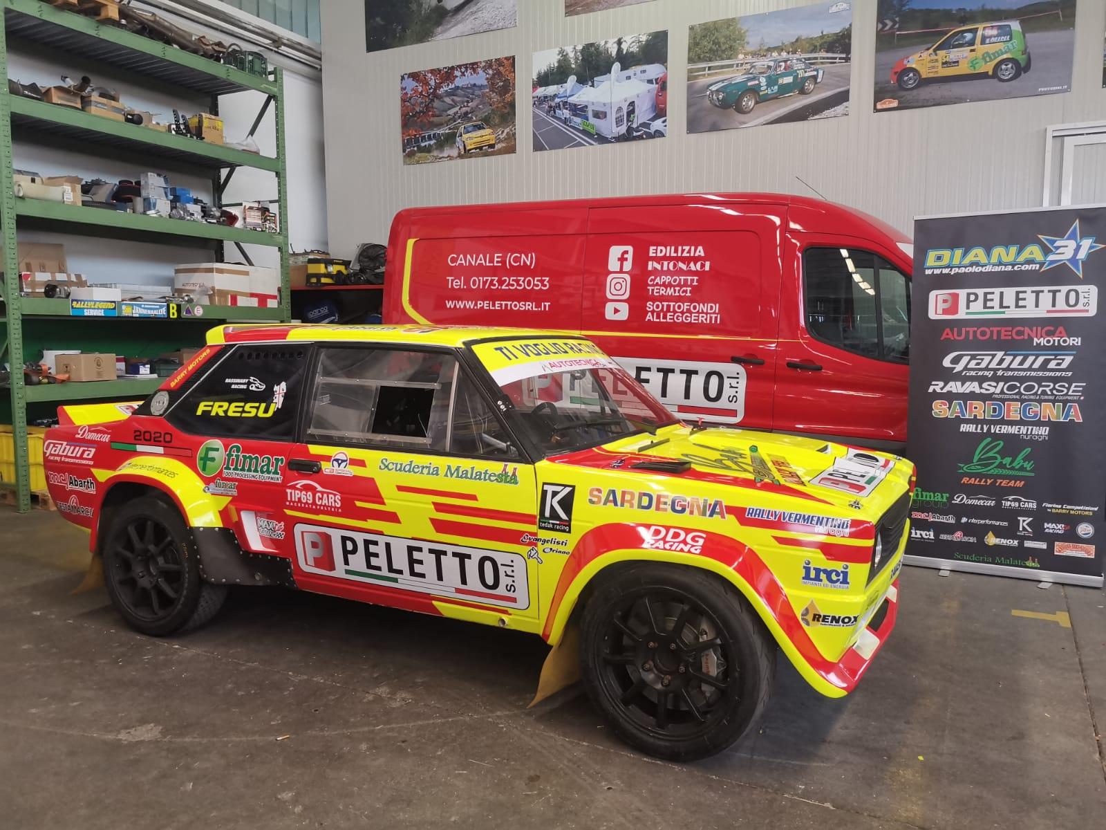 Paolo Diana al Rallylegend con i colori Peletto
