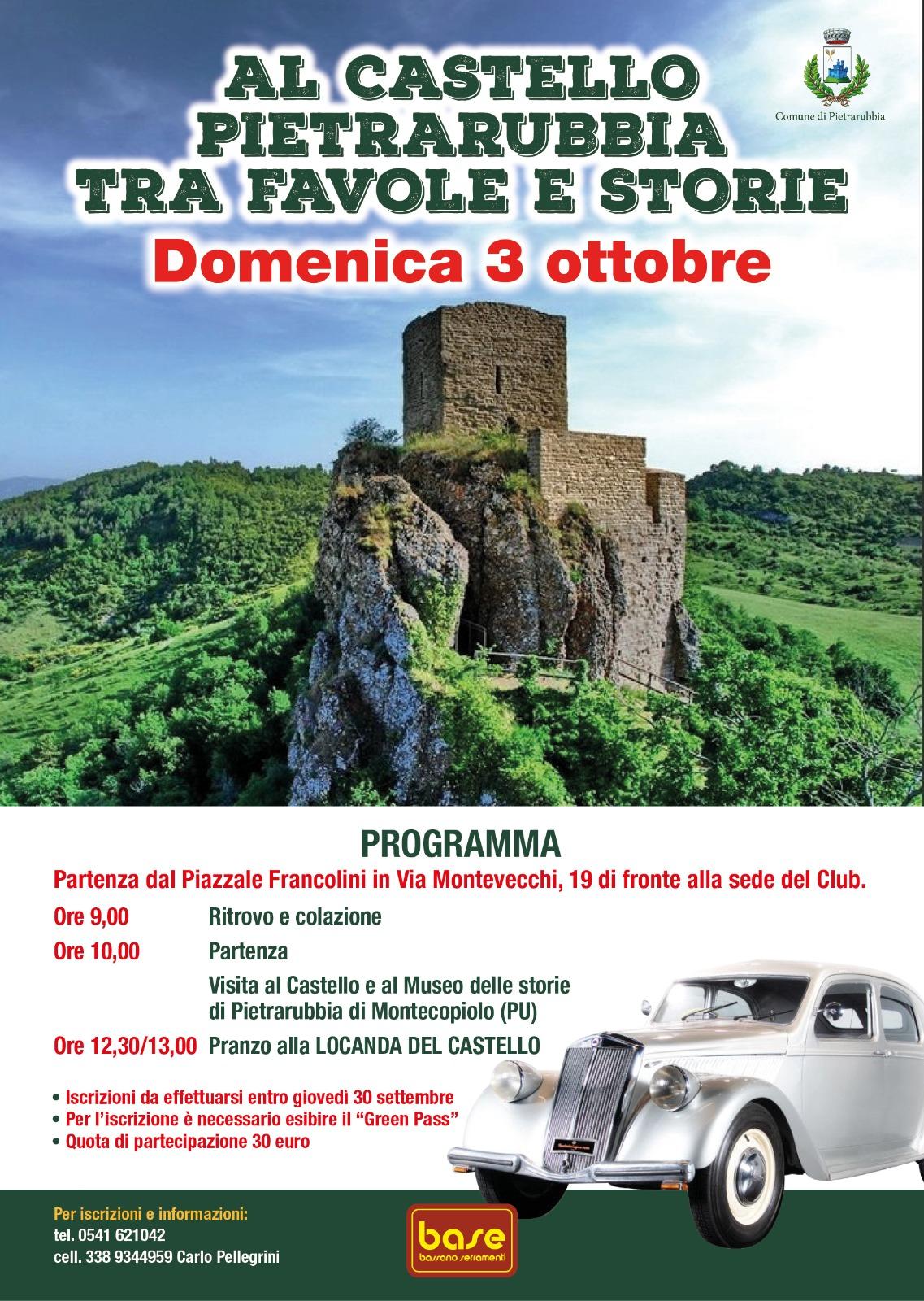 """Nuova iniziativa del Rally Driver Team """"Al Castello di Pietrarubbia tra favole e storie"""""""