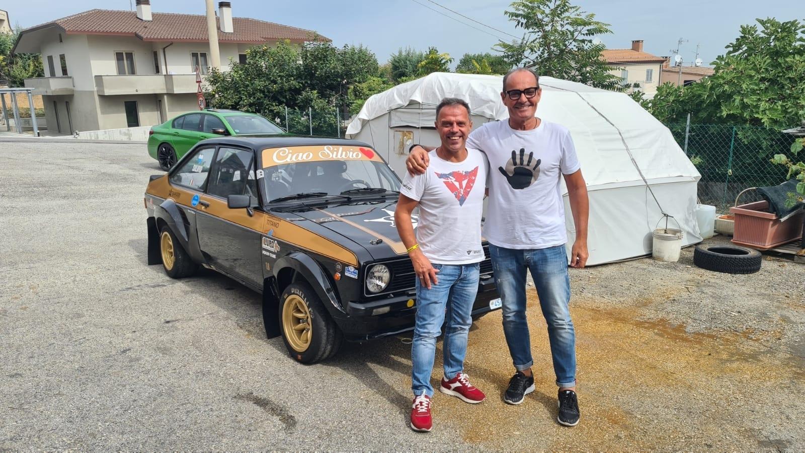 Giuliano Calzolari  e Loris Capirossi insieme al Rallylegend